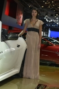 2012 paris motor show brunette girl