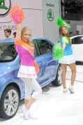 2012 paris motor show cheerleader