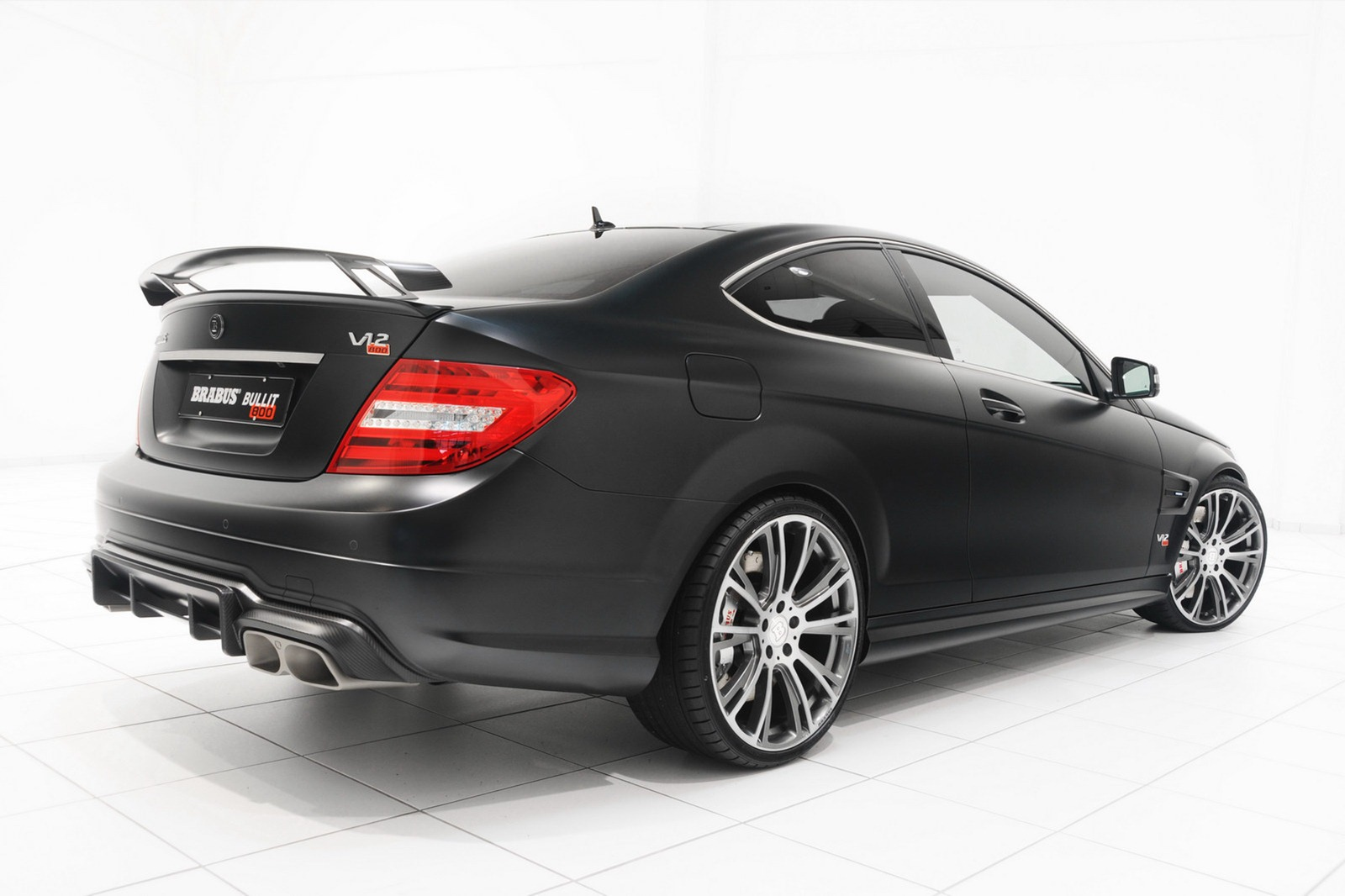 Brabus Bullit Coupe 800 Adds a V12 to the Mercedes C63 AMG Coupe