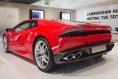 Red Lamborghini Huracan back