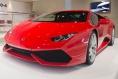 Red Lamborghini Huracan front