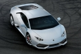 White Lamborghini Huracan top view