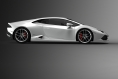 Lamborghini Huracan side-white