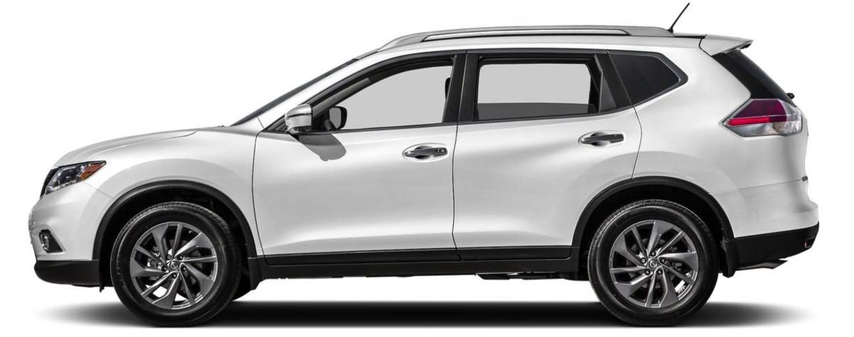 What is an SUV - White Nissan Rouge Crossover