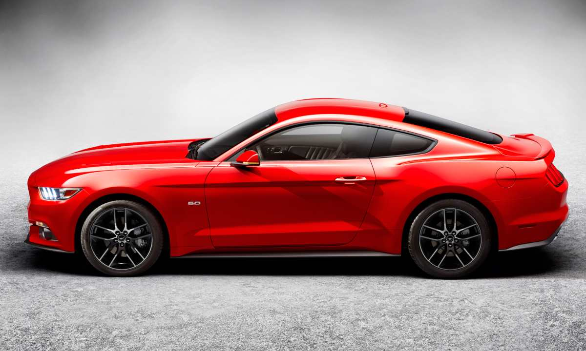 What Is A Coupe- A Red Ford Mustang Side View