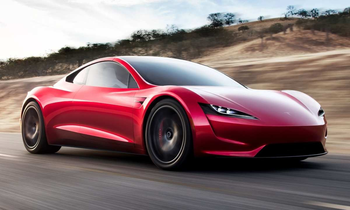 What is a coupe - new Tesla Roadster in red