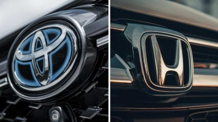 Toyota vs Honda - Logos